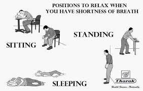 תנוחות לטיפול בקוצר נשימה